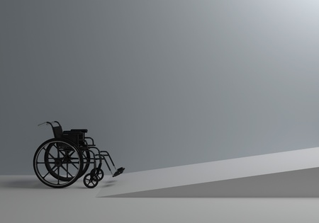 Problems of people with disabilities Stock Photo