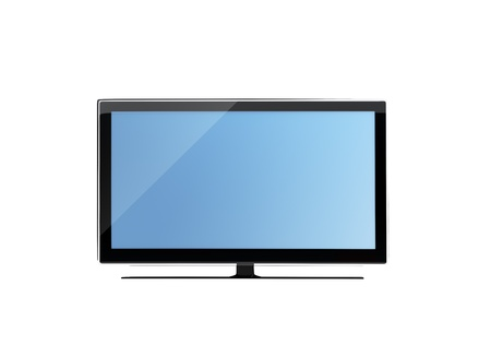 frontal view: frontal view of widescreen lcd monitor isolated on white