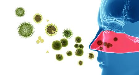 화분이나 바이러스의 3d 렌더링 그림 스톡 콘텐츠 - 26790908