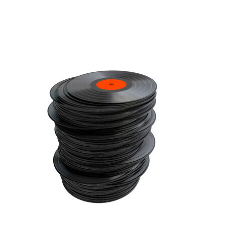 lps: Stack of vinyl records isolated  Stock Photo
