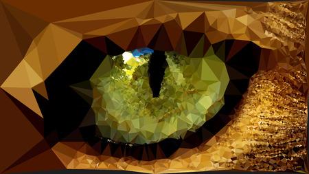 animal eye: Triangolo poligonale animali selvatici occhio illustrazione