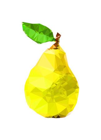 Triangle polygonal fruit Illustration