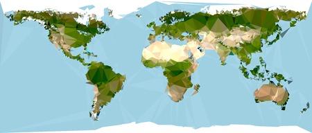 internationally: Geometrical World Map Illustration Illustration