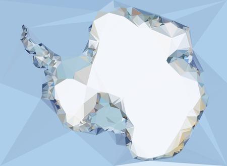 antartide: Poligonale Antartide Map Vettoriali