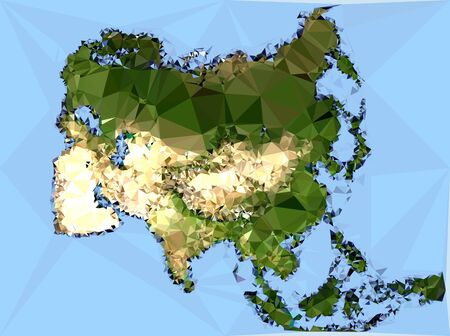 internationally: Polygonal Asia Map