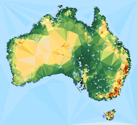 globally: Geometrical Australia Map Illustration Illustration