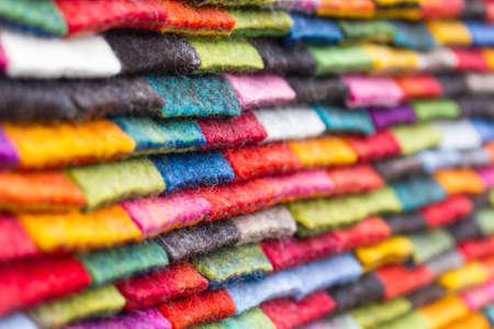 colourful felt background Stock Photo