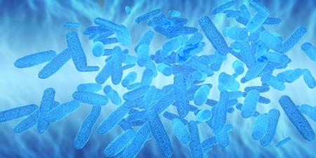 bacterias: Render 3D de las c�lulas de virus y bacterias