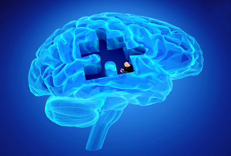 memory loss: Human brain research and memory loss as symbol of alzheimer