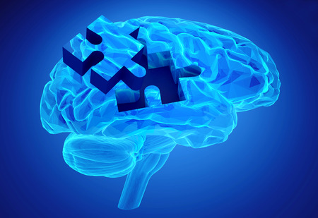 Human brain research and memory loss as symbol of alzheimer