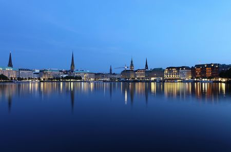 City of Hamburg Stock Photo