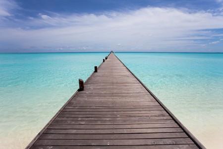Endless maldivian runway