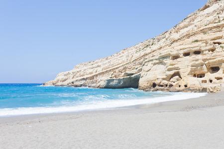 Beach of Matala Crete Greece