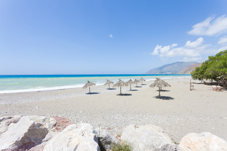 Beach of Kokkinos Crete Greece