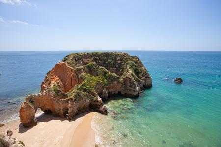 Praia dos Tres Irmaos Portugal Stock Photo