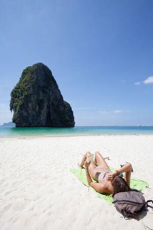 phra nang: Phra Nang Beach Thailand Stock Photo