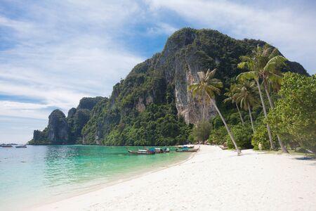 Beach of Ko Phi Phi Don Stock Photo