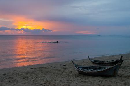 Sunset on Ko Lanta in Thailand Stock Photo