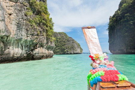 Boat trip to Ko Phi Phi, Thailand Stock Photo