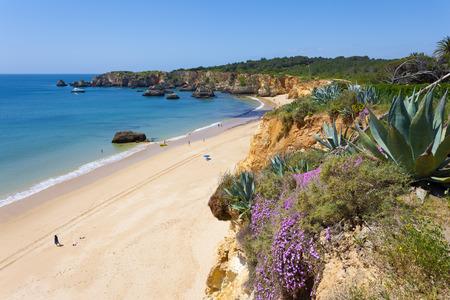 Praia do Vao in Algarve, Portugal Stock Photo