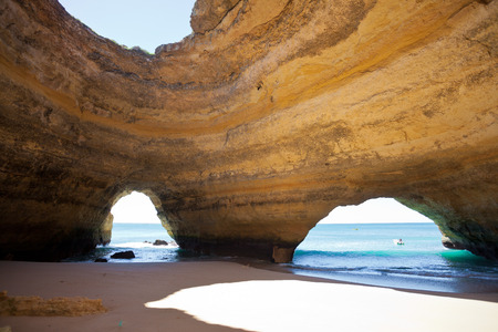 Beach of Benagil in Algarve, Portugal Stockfoto