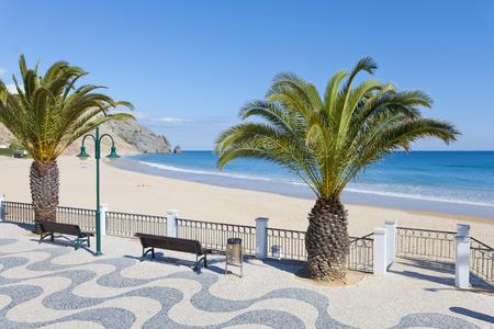 Beach of Luz Algarve in Portugal Stock Photo