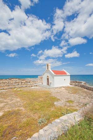 Chapel of Hersonissou in Crete, Greece Stock Photo