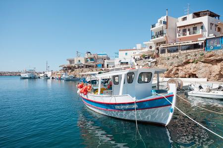 Harbor of Sisi in Crete, Greece