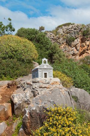 Shrine of Crete in Greece Stock Photo