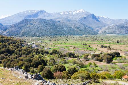 Lassithi Plateau of Crete in Greece