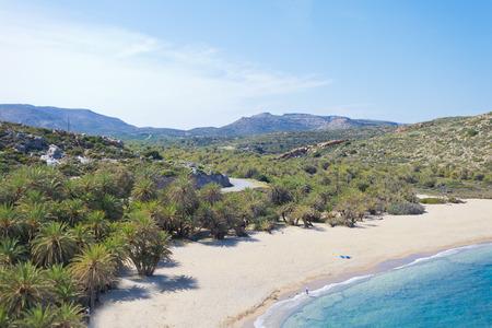 Vai beach of Crete in Greece