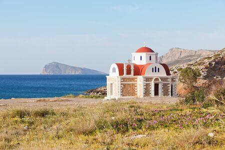 Little Chapel of Pachia Ammos in Crete, Greece