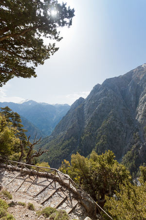the Samaria Gorge in Crete, Greece