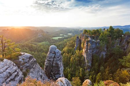 Elbsandsteingebirge Germany Stock Photo