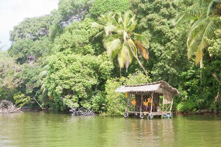 Maduganga Lake, Balapitiya, Sri Lanka - Having a break at a traditional river shop on the Maduganga Lake