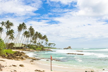 Koggala Beach, Sri Lanka, Asia - A wide view across the bay of Koggala Beach