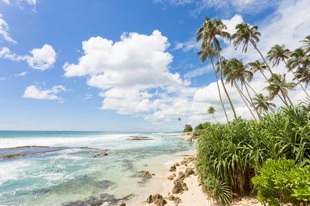 Koggala Beach, Sri Lanka, Asia - Feeling free while relaxing at the beatiful landscape of Koggala Beach Standard-Bild - 96865879