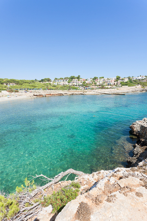 Cala Murada, Mallorca, Spain - A glance from a viewpoint above the coastline of Cala Murada