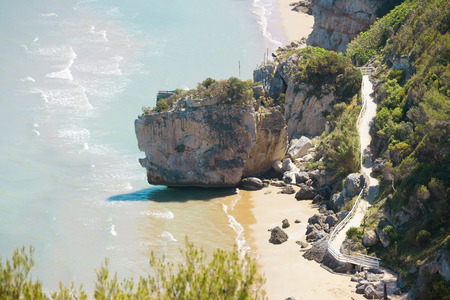 Pescichi, Apulia, Italy - Hiking trail to the beach of Pescichi