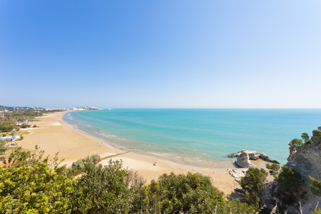 Vieste, Apulia, Italy - View from a viewpoint above the bay of Vieste