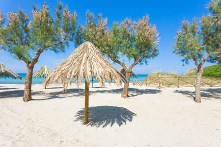 Spiaggia Terme, Apulia, Italy - Enjoying the silence at the beach of Spiaggia Terme Standard-Bild - 101341719