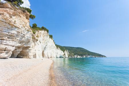 Vignanotica, Apulia, Italy - Out for a walk at the impressive beach of Vignanotica Standard-Bild - 101341718