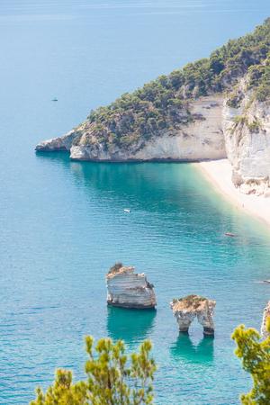 Grotta Smeralda, Apulia, Italy - Photo shooting at the dreamily grotto of Smeralda Standard-Bild - 101355144