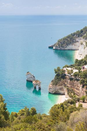 Grotta Smeralda, Apulia, Italy - Visiting the famous grotto of Smeralda Standard-Bild - 101409533