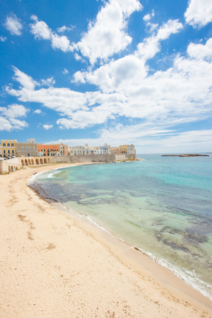 Gallipoli, Apulia, Italy - Magnificent coastline of an impressive italian city Standard-Bild - 101522895