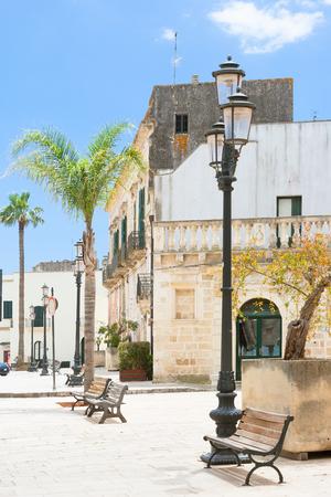 Specchia, Apulia, Italy - Beautiful old city center of Specchia Editorial