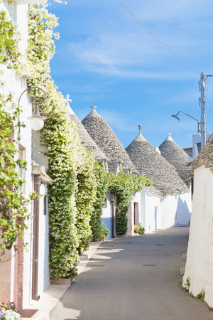 Alberobello, Apulia, Italy - A contemplative alleyway with a calm atmosphere