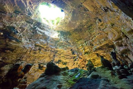 Grotta di Castellano, Apulia, Italy - Exploring the huge cave underground Archivio Fotografico