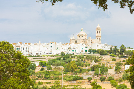 Locorotondo, Apulia, Italy - Skyline of Locorotondo from the landside