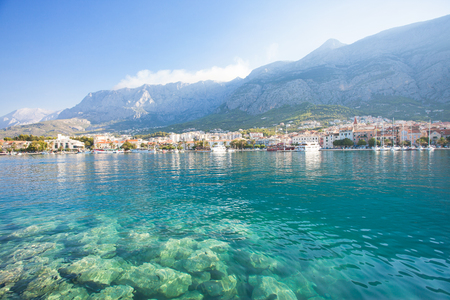 Makarska, Dalmatia, Croatia, Europe - Nature is beautiful at the coastline of Makarska 版權商用圖片